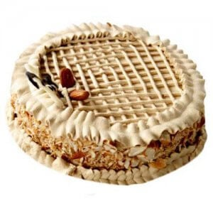 Coffee Almond Cake 1kg - Birthday Cake Online Delivery - Send Mother's Day Cakes Online