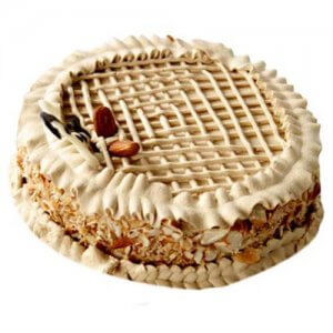 Coffee Almond Cake 1kg - Birthday Cake Online Delivery
