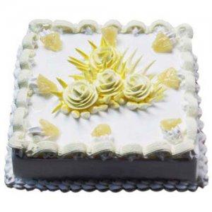 Sweet Pineapple Jinx Cake Half Kg - Birthday Cake Online Delivery