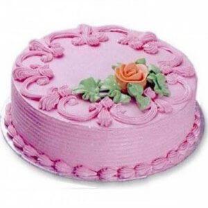 Creamy Strawberry Charm Cake - Send Strawberry Cakes Online