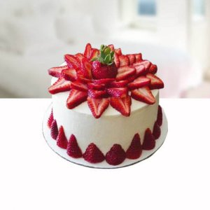 Dark Strarberry Cake - Send Strawberry Cakes Online