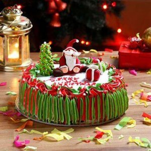 Santa Claus Chocolate Cake - Online Christmas Gifts Flowers Cakes