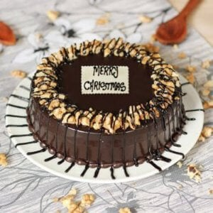 Crunchy Walnuts Xmas Cake - Online Christmas Gifts Flowers Cakes