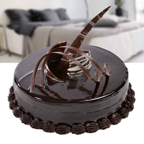 online chocolate cake delivery by Way 2 Flowers