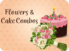 Birthday Flowers and Cake