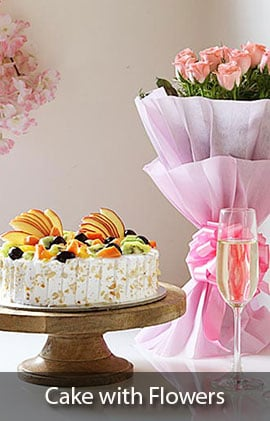 online flowers with cake delivery