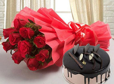 Online Flowers With Cake