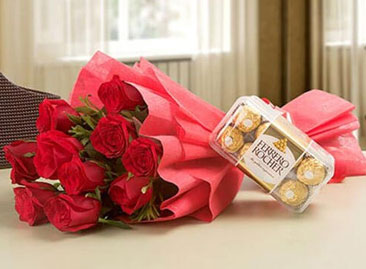 Send Flowers with Chocolates Online